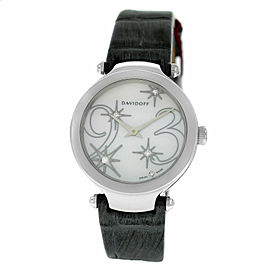 Ladies Davidoff Lady 21158 Stainless Steel MOP Diamond Dial Quartz 30MM Watch