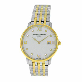 Unisex Frederique Constant Ultra Slim FC-220MPWD3S3B Gold MOP 36MM Quartz Watch