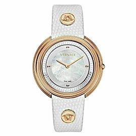 New Versace THEA VA703 0013 Gold Tone MOP Quartz 39MM Watch