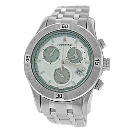 Mens Tourneau Corporate Collection 42MM Steel Quartz Chrono Watch