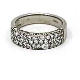 Women's Pave Diamond Wedding Anniversary Band Ring in Platinum ( 1.00 ct tw )