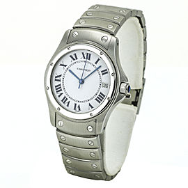 Cartier Santos Ronde Automatic Men's Watch in Stainless Steel 1920 1