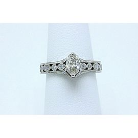 Neil Lane Oval Diamond Engagement Ring 3/4 tcw in 14k White Gold