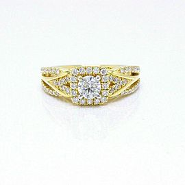 Vera Wang Love Diamond Engagement Ring 1.00 tcw 14k Yellow Gold