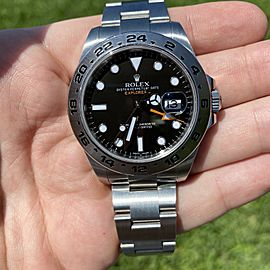 Rolex Explorer II 216570 BKSO Black Dial Stainless Steel Watch With Card