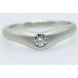 Tiffany & Co Elsa Peretti Curve Band Platinum Diamond Ring