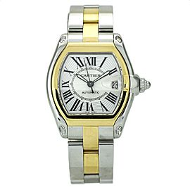Cartier Roadster Large 18k Yellow Gold Stainless Steel Men's Watch W62031Y4