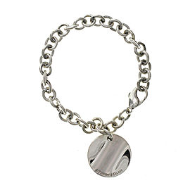 "Tiffany & Co. Sterling Silver NEW YORK Tiffany Round Charm Bracelet 6.5""»U220"