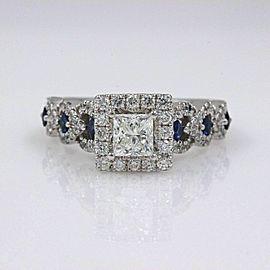 VERA WANG Love Engagement Ring Diamond and Sapphire 1.00 tcw 14k White Gold