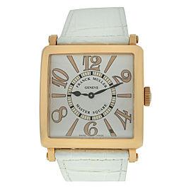 Franck Muller Master Square 6002 H QZ REL 6/6 18K Rose Gold Quartz 36MM Watch
