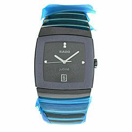 New Men's Rado Sintra R13723709 Ceramic Diamond 35MM Quartz $4,400 Watch
