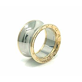 Bvlgari B.zero1 Anish Kapoor 18k Rose Gold & Steel Band Ring