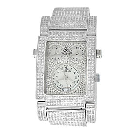 Jacob & Co Capri 3 Time Zones MOP 6.8 Carats Diamond Quartz 32MM x 43MM Watch