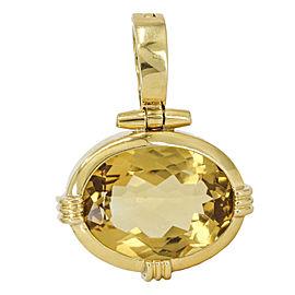 Oval Citrine Statement Pendant Enhancer in 18k Yellow Gold