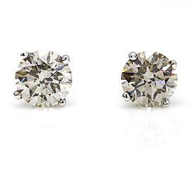 Diamond Stud Earrings in 14k White Gold ( 2.25 ct tw )