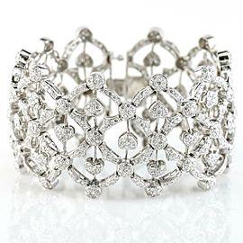 Openwork Hearts Diamond Bracelet in 18k White Gold ( 12.00 ct tw )
