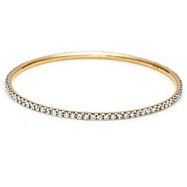 Diamond Eternity Bangle Bracelet in 18k Yellow Gold ( 4.50 ct tw ) Signed