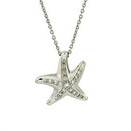 Tiffany & Co. Elsa Peretti Diamond Starfish Pendant Necklace in Platinum