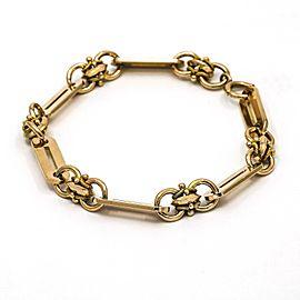 """Men's Fancy Link Chain Bracelet in 14k Rose Gold XLarge 9.5"""""""