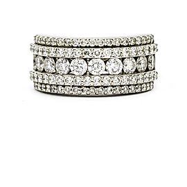 Diamond Anniversary Band Ring in 18k White Gold ( 1.50 ct tw )