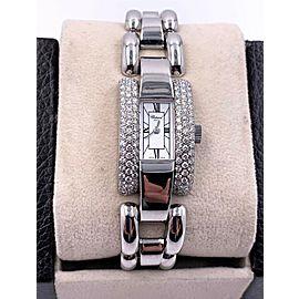 Chopard La Strada 433 1 18K White Gold Diamond Bezel White Dial