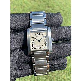 Cartier Tank Francaise 2465 25mm Stainless Steel Watch