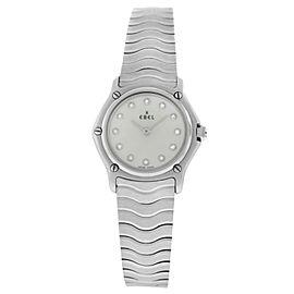 Ebel Sport Classic Ladies' MOP Diamond Steel 9157111 Quartz Watch 23MM