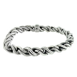 David Yurman Chain Woven Sterling Silver Men's Bracelet