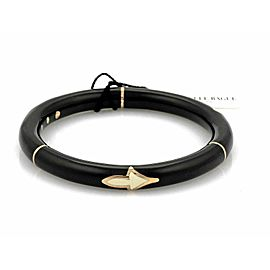Nouvelle Bague Black Enamel 18k Pink Gold/Sterling Bangle Bracelet Rt. $1,950