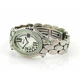 Chopard Happy Sport Oval 7 Floating Diamonds Ladies Stainless Steel Wrist Watch