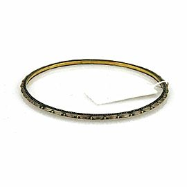 Gurhan Capitone Sterling & 24k Gold Petals Bangle 8""
