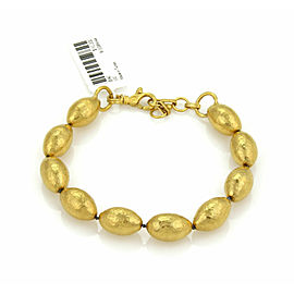 Gurhan Cocoon 24k Gold Hand Hammered Beaded Bracelet