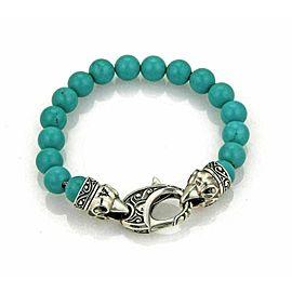 Stephen Webster 10mm Turquoise Bead Sterling Silver Bracelet Rt. $595