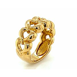 Van Cleef & Arpels 18k Yellow Gold Open Hearts Ring