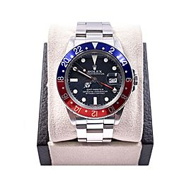 VINTAGE Rolex GMT Master 16750 Pepsi Red Blue Matte Stainless UNPOLISHED 1983