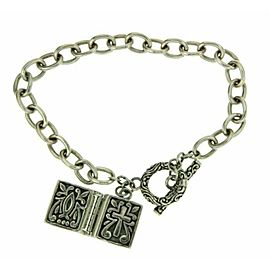 ¦925 Sterling Silver Bali Cross Book Box Prayer Locket Bracelet Size 6.5 » B36
