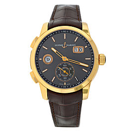 Ulysse Nardin Dual Time 18K Rose Gold 3346-126 LE/BQ Limited Auto 42MM Watch