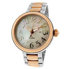 New Locman Tutto Tondo Unisex MOP Steel Gold Tone Ref. 360 Quartz 40MM Watch