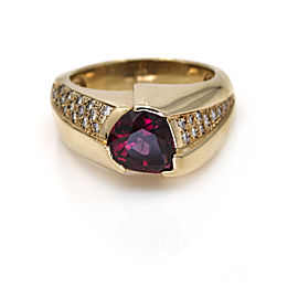 Men's Rhodolite Garnet Diamond Ring in 18k Rose Gold ( 4.10 ct tw )