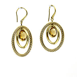 David Yurman Citrine Mobile Earrings in 18k Yellow Gold