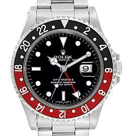 Rolex GMT Master II Black Red Coke Bezel Mens Watch 16710 Box Papers