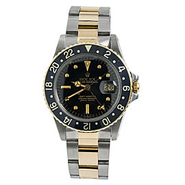 Rolex GMT-Master 1675 Nipple Dial Mens Automatic Vintage Watch Two Tone 40mm