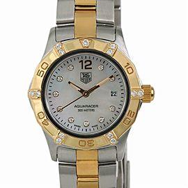 Tag Heuer Aquaracer WAF1451 Womens Quartz Watch MOP Dial Two Tone SS 27mm