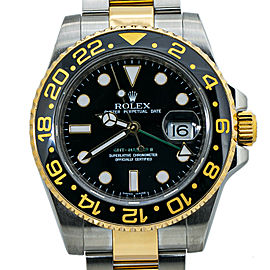 Rolex GMT Master II 116713LN Ceramic 18K Gold Stainless Steel with Papers 40MM