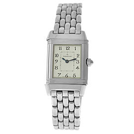 Jaeger-Lecoultre Reverso Duetto 266.8.44 Steel MOP Diamond Watch