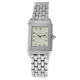Jaeger-Lecoultre Reverso Duetto 266.8.44 Steel MOP Diamond Watch