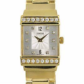 Concord Crystale 51.C1.1431 Womens Quartz Watch 0.64CT 90.8 Gram 18K Gold 21mm