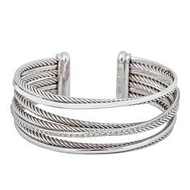 David Yurman Diamond Bracelets Sterling Silver Pave Diamonds 1.98CT VVS1 52.9Gr