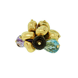 Roberto Coin Gemstone Beads Cluster Ring in 18k Yellow Gold