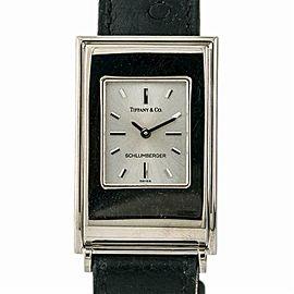 Tiffany & Co Schlumberger Womens Quartz Watch Silver Dial 18K YG 23mm
